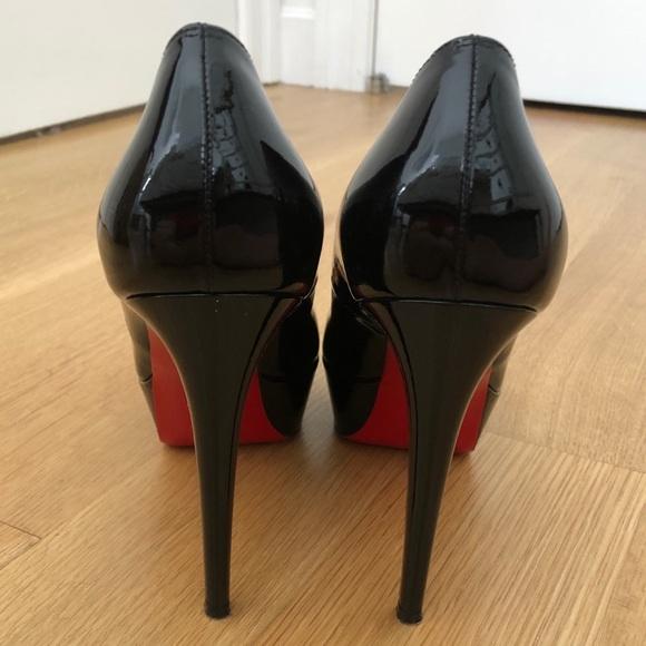 Christian Louboutin Shoes - Christian Louboutin black patent leather pump heel